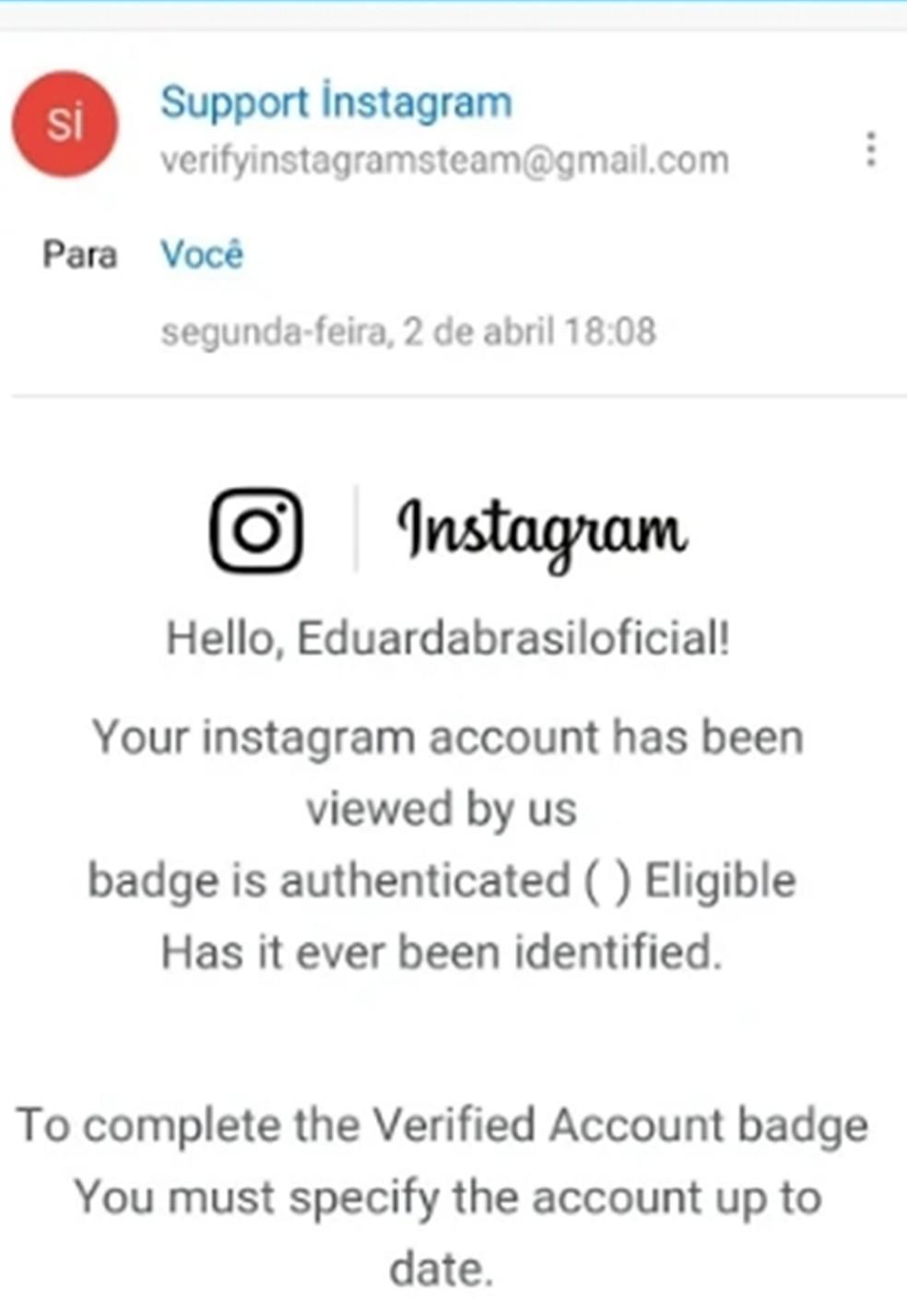 Instagram de Eduarda Brasil foi hackeado após cantora paraibana cair em golpe (Foto: Eduarda Brasil/Arquivo pessoal)