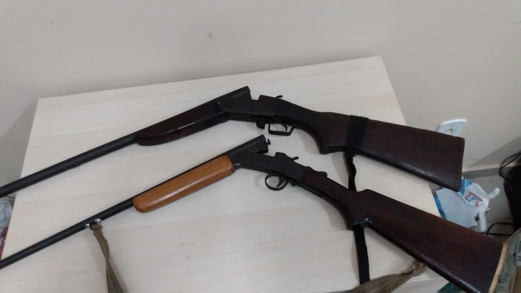 Polícia Militar apreende armas em residência de investigado no município de Faro, no PA