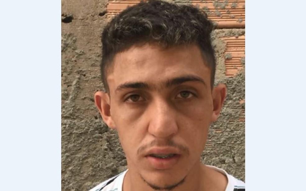 Diego Afonso Siqueira Santos  é suspeito de envolvimento na extorsão de padre e morte de policial  (Foto: Polícia Civil/ Divulgação)