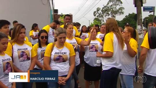 Familiares e amigos de empresária morta na frente dos filhos durante roubo fazem ato por justiça, em Aparecida de Goiânia
