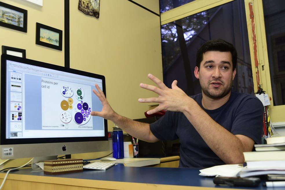 Professor Daniel Martins-de-Souza é coordenador das pesquisas (Foto: Antonio Scarpinetti/Ascom – Unicamp)