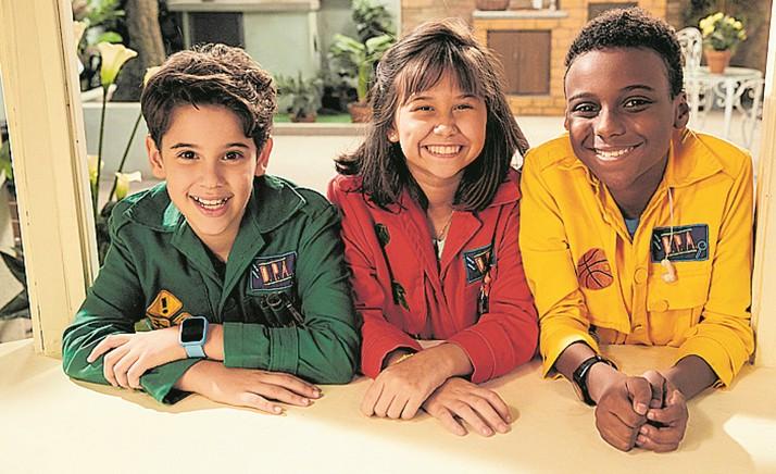 Stéfano Agostini, Nathália Costa e Samuel Minervino (Foto: Juliana Coutinho)