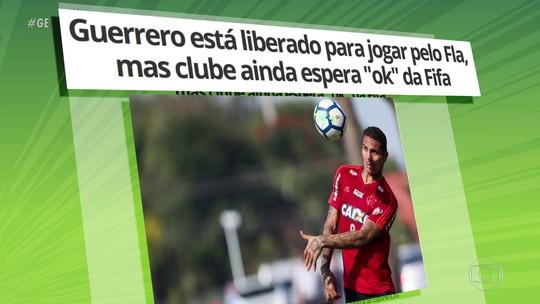 Guerrero e Uribe já estão liberados para jogar pelo Flamengo contra o São Paulo