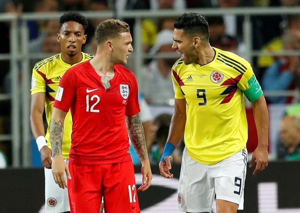 Inglaterra, de Trippier, fez mais cera do que a Colômbia de Falcao García, segundo levantamento de site americano (Foto: John Sibley / Reutres)