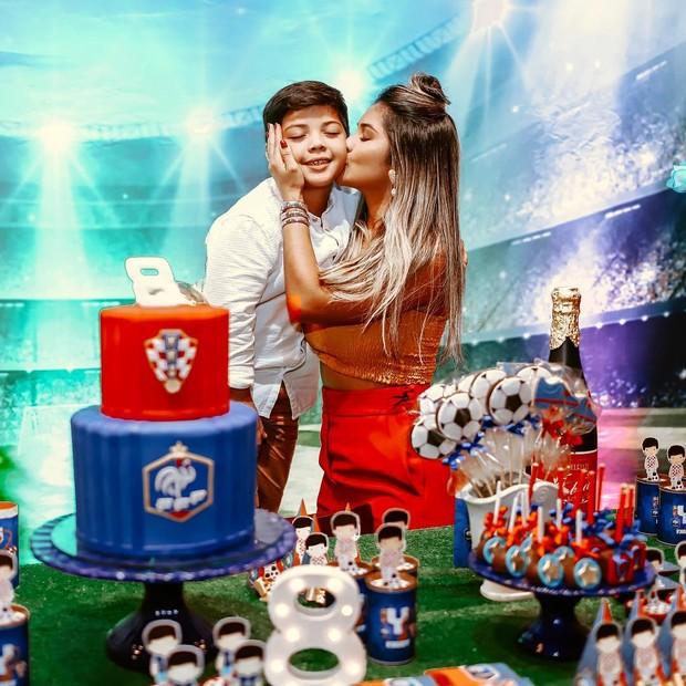 Mileide Mihaile celebra os 8 anos do filho Yhudi (Foto: Reprodução/Instagram)