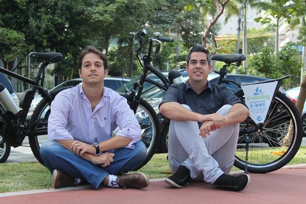 Gabriel Arcon e Kleber Piedade são os fundados da E-Moving (Foto: Divulgação)