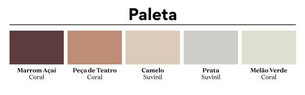 Paleta de cores, Coral e Suvinil - janeiro de 2020 (Foto: Casa e Jardim)