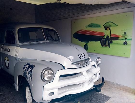 Caminhonete com a qual Pablo Escobar protagonizou fuga espetacular é atração do tour em Medellín (Foto: Rodrigo Pedroso)