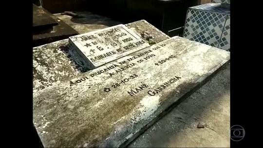 Restos mortais de Mané Garrincha somem de cemitério em Magé, RJ