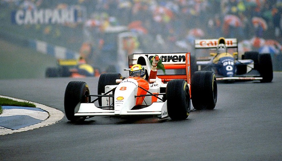 Ayrton Senna Donington Park 1993 (Foto: Divulgação/McLaren)