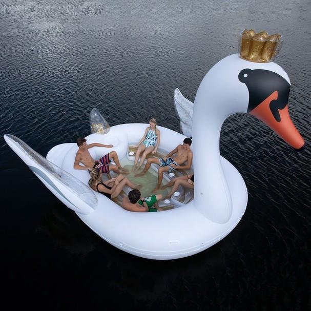 Boia de cisne gigante  (Foto: Divulgação)