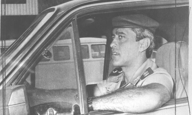 O capitão Wilson Machado em imagem da época do atentado
