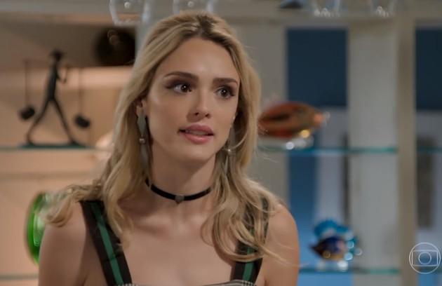 Na terça-feira (9), Manu (Isabelle Drummond) entrará na casa de João (Rafael Vitti) e dará de cara com Moana (Giovana Cordeiro) (Foto: TV Globo)