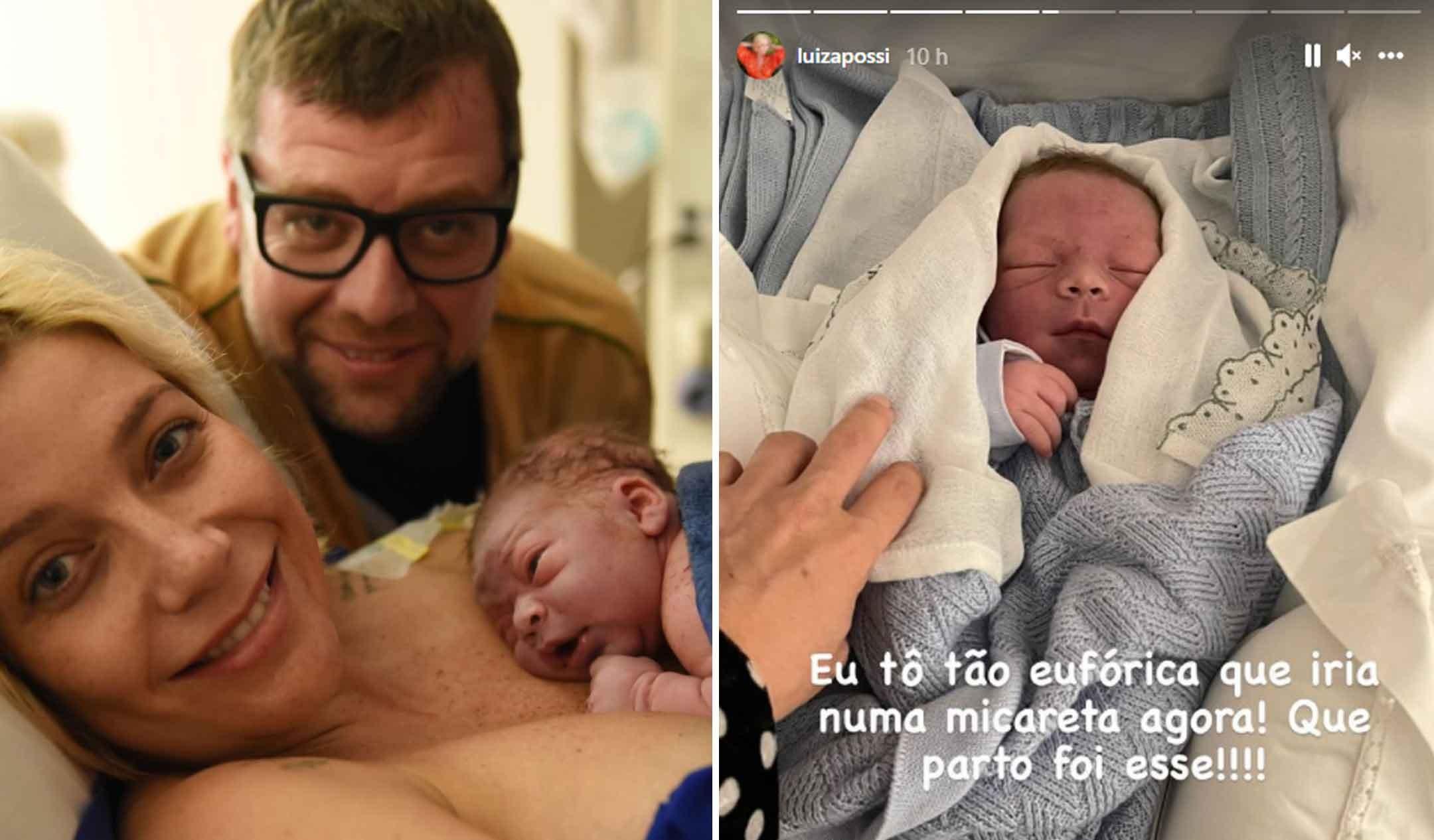 Luiza Possi anuncia nascimento de Matteo, seu segundo filho: 'Foi mágico'