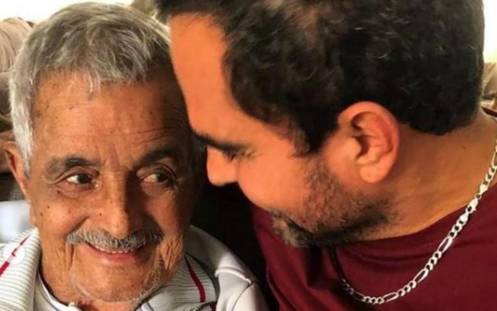 Francisco Camargo e o filho Luciano em foto publicada nas redes sociais em 24 de novembro de 2020 — Foto: Reprodução/Instagram