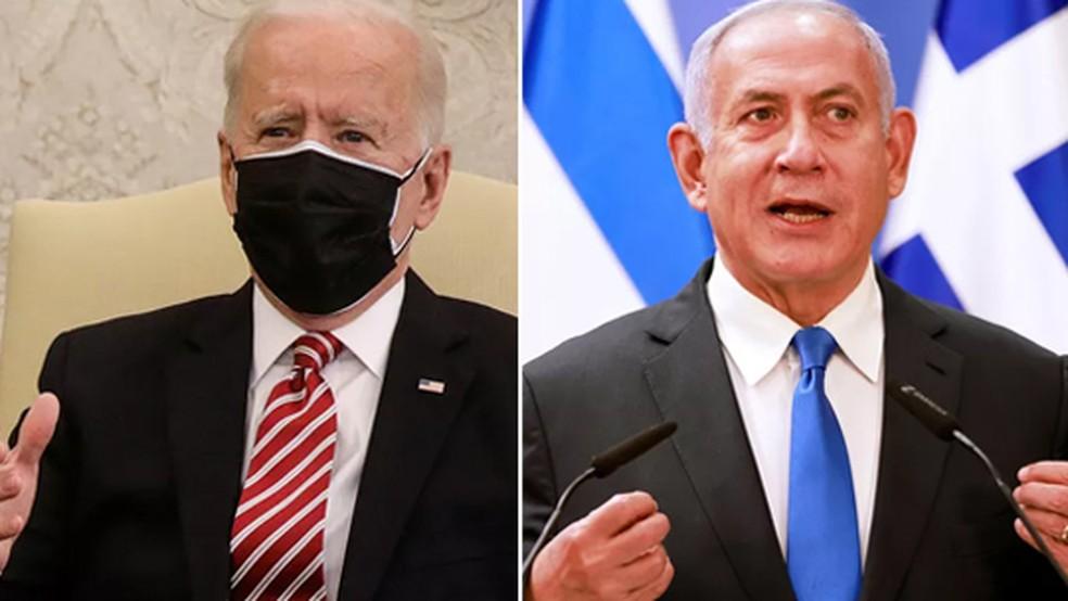 Biden e Netanyahu — Foto:  Montagem/Reuters/G1