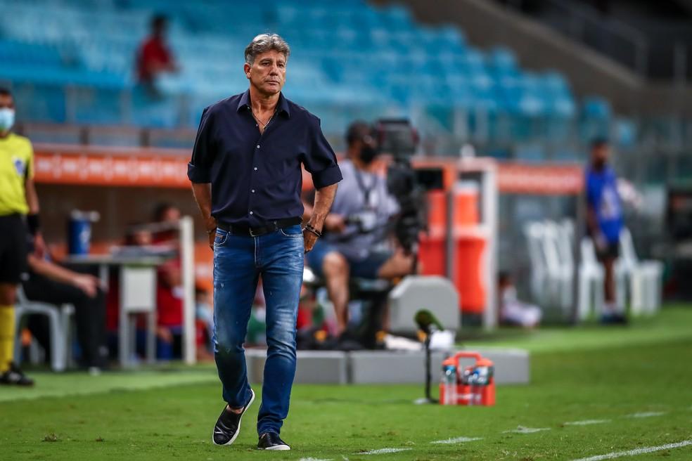 Renato Portaluppi sugeriu contratação de Rafinha, que foi vetada — Foto: Lucas Uebel/Grêmio
