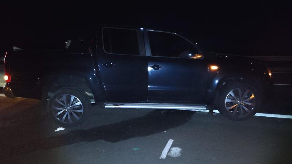 Rodolfo estava na caminhonete e morreu após a colisão na Rodovia Castello Branco em Bofete  — Foto: Polícia Rodoviária/ Divulgação