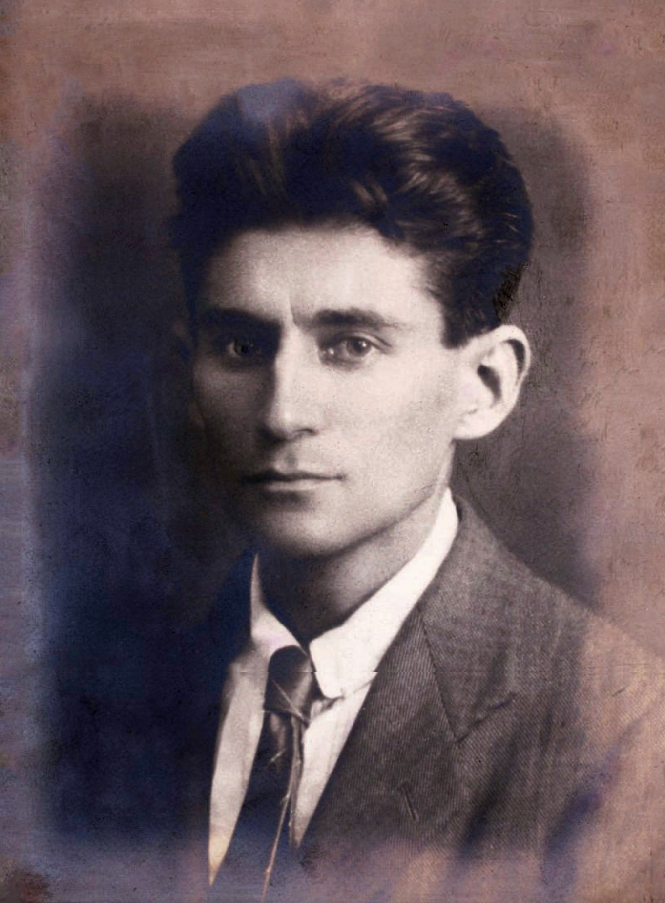 Franz Kafka em 1917 (Foto: By unattributed (Christie's) [Public domain], via Wikimedia Commons)