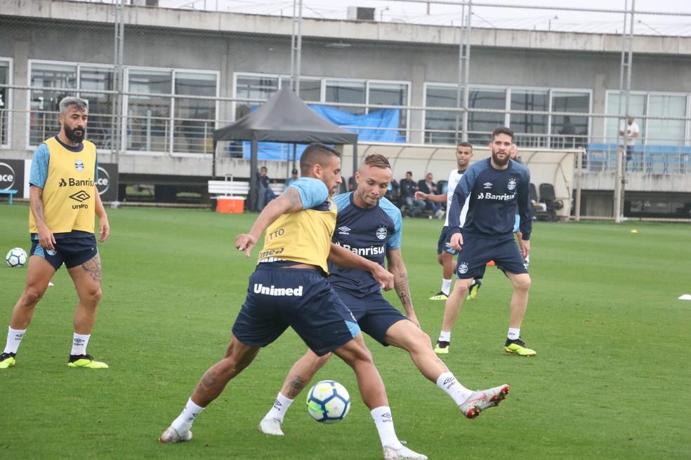 Michel é outro a retonar a treinar — Foto: Eduardo Moura