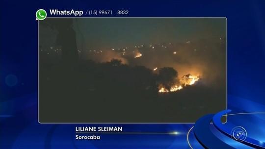Bombeiros combatem incêndio na Vila Barão em Sorocaba