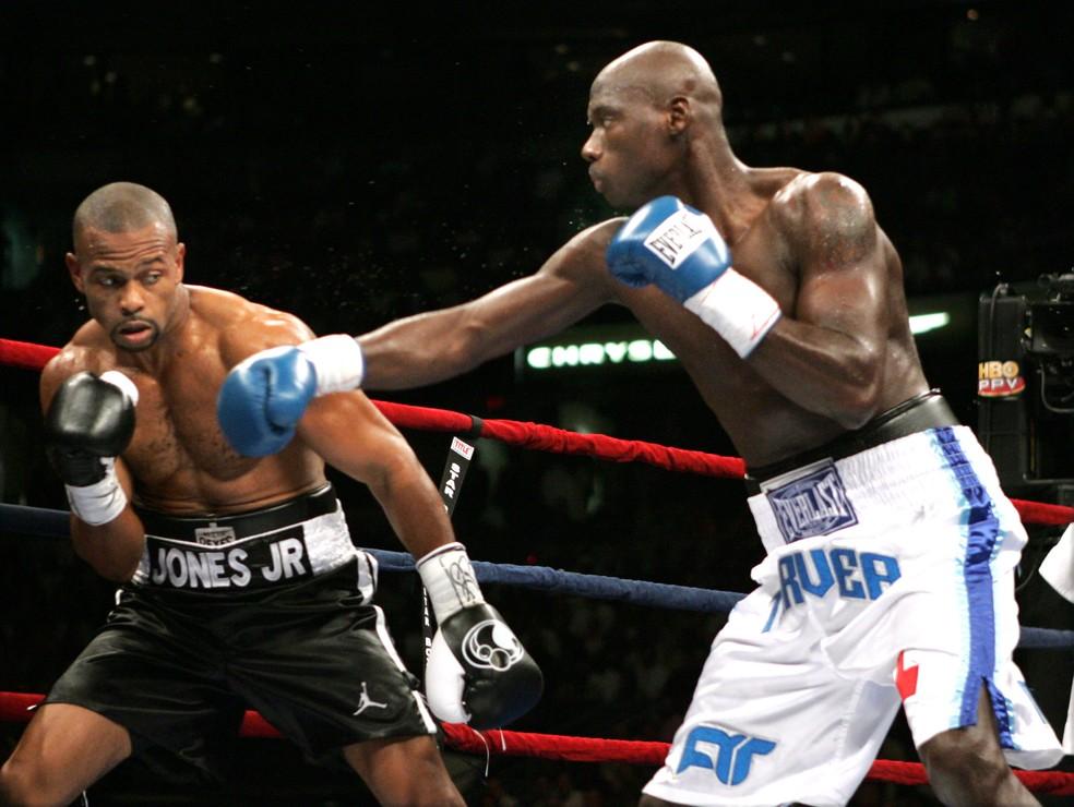 Roy Jones Jr., de 51 anos, será o adversário da volta de Tyson — Foto: Ed Mulholland/WireImage