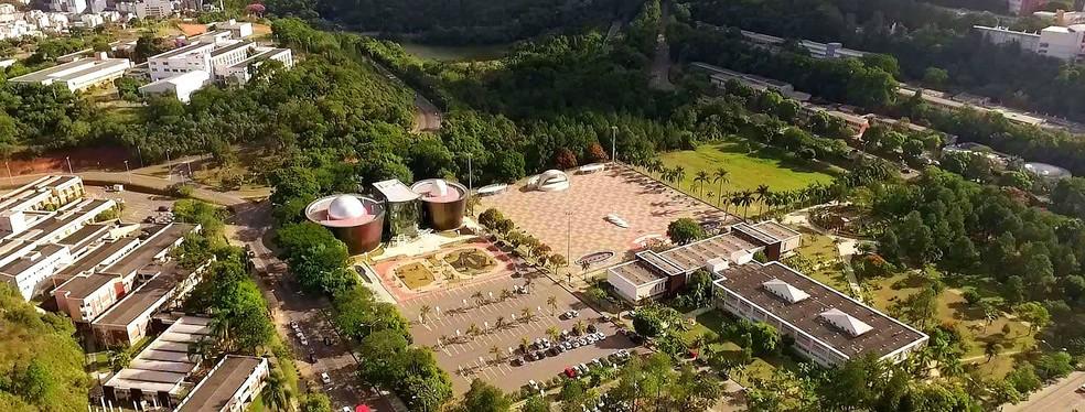 Vista áerea do Campus da UFJF em Juiz de Fora — Foto: UFJF/Divulgação