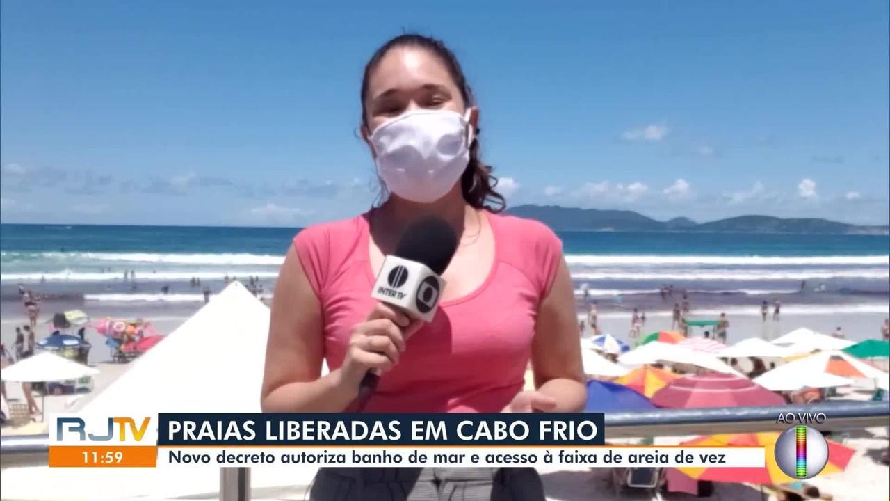 Novo decreto em Cabo Frio, RJ, autoriza banho de mar e acesso à faixa de areia de vez