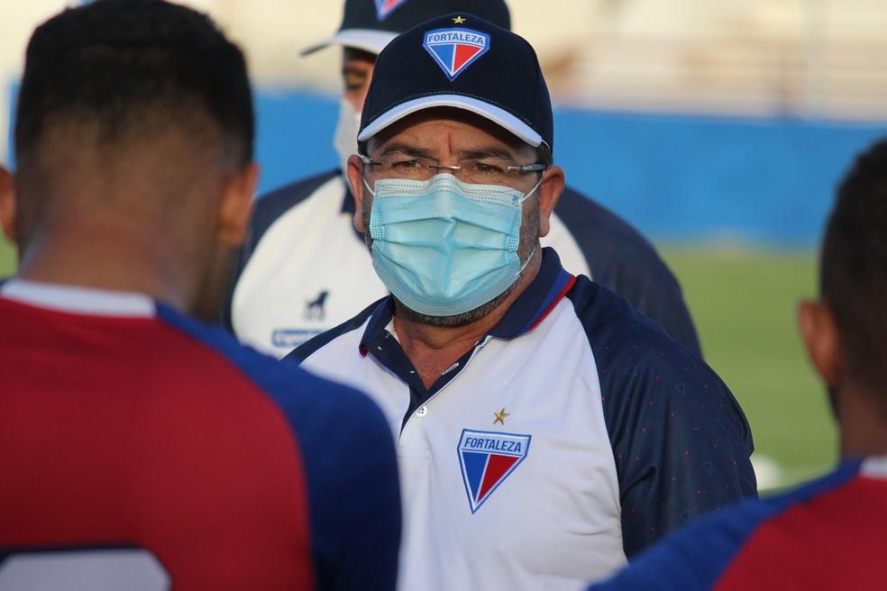 Enderson Moreira, técnico do Fortaleza — Foto: Bruno Oliveira/Fortaleza EC