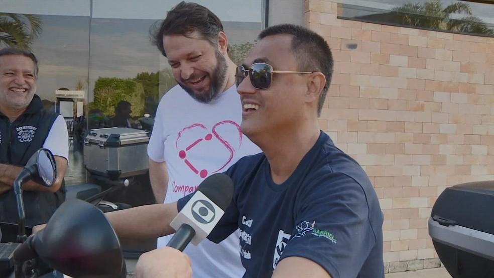 Dia do 'Compartilhando Sensações' em Indaiatuba neste sábado (1). — Foto: Reprodução EPTV