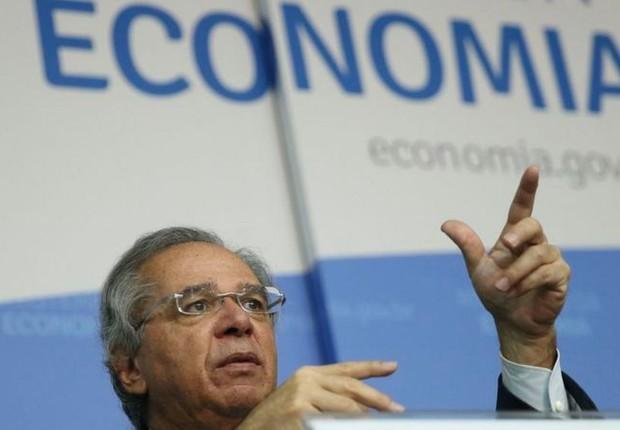 O ministro da Economia, Paulo Guedes, não descartou o retorno do auxílio (Foto: JOSÉ CRUZ/AG. BRASIL)
