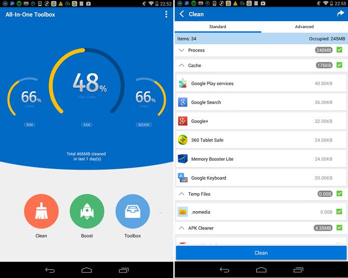 All-In-One Toolbox é uma suíte de programas para otimização de dispositivos Android (Foto:Divulgação/All-In-One Toolbox)