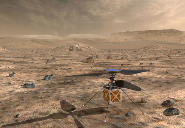 Helicóptero da nasa vai sobrevoar Marte em 2021 (Foto: nasa)