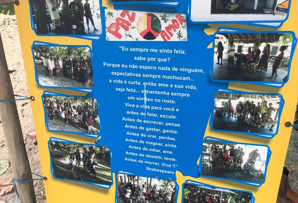 Moradores compartilham a filosofia da paz e amor — Foto: Gabriel Gonçalves/G1 Bahia