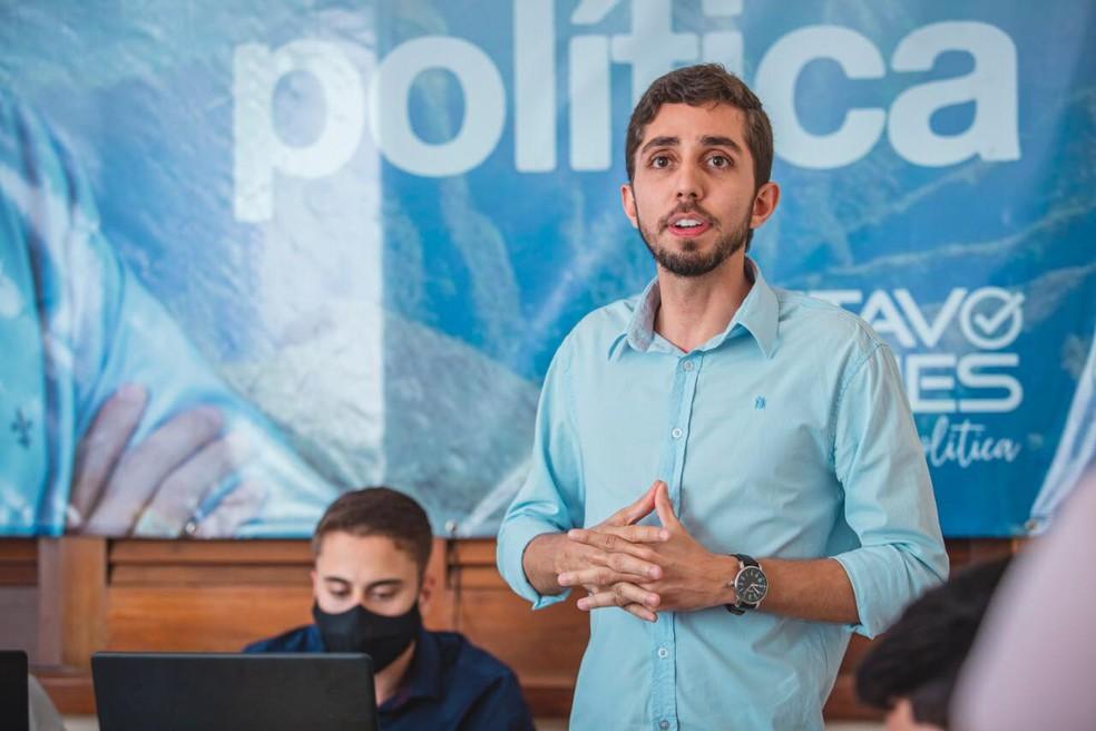 PSL oficializa candidatura de Gustavo Nunes à Prefeitura de Ipatinga — Foto: Reprodução