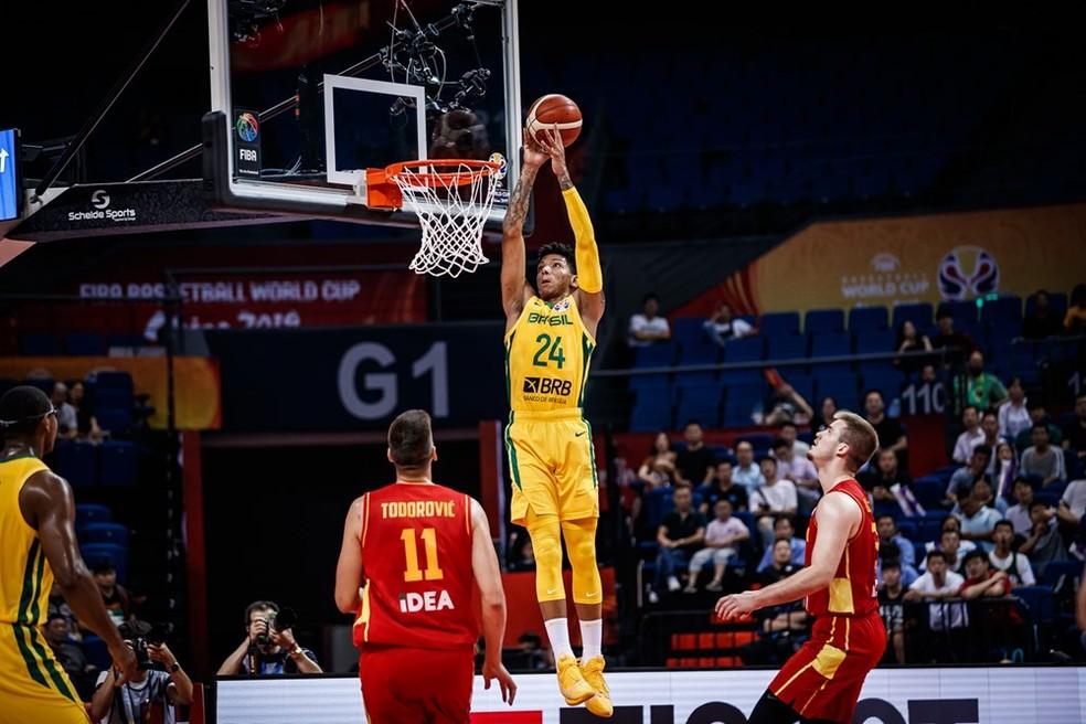 Didi em ação no Mundial de basquete — Foto: Divulgação Fiba
