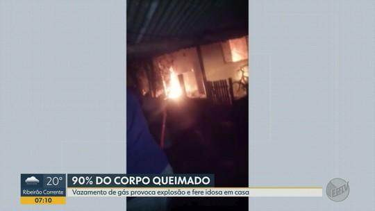 Idosa tem 90% do corpo queimado em explosão após vazamento de gás em Santa Ernestina, SP