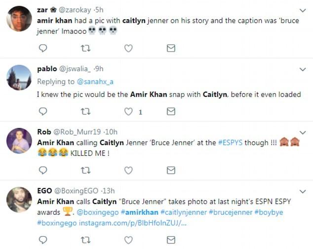 Comentários sobre Amir Khan (Foto: Twitter)