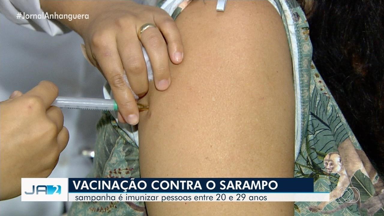 Procura pela vacina contra o sarampo ainda é baixa, em Goiás