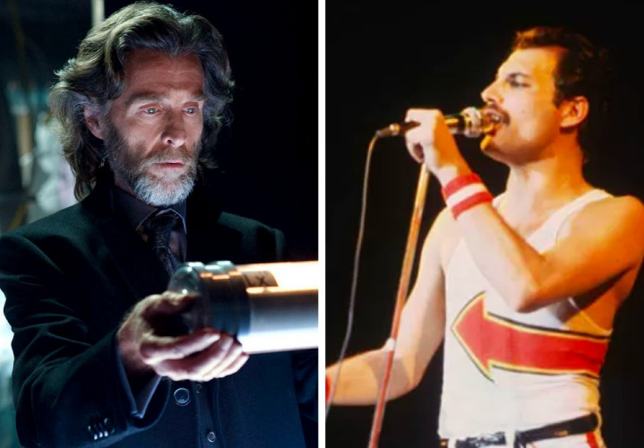 O ator John Glover e o músico Freddie Mercury  (Foto: Reprodução/Getty Images)