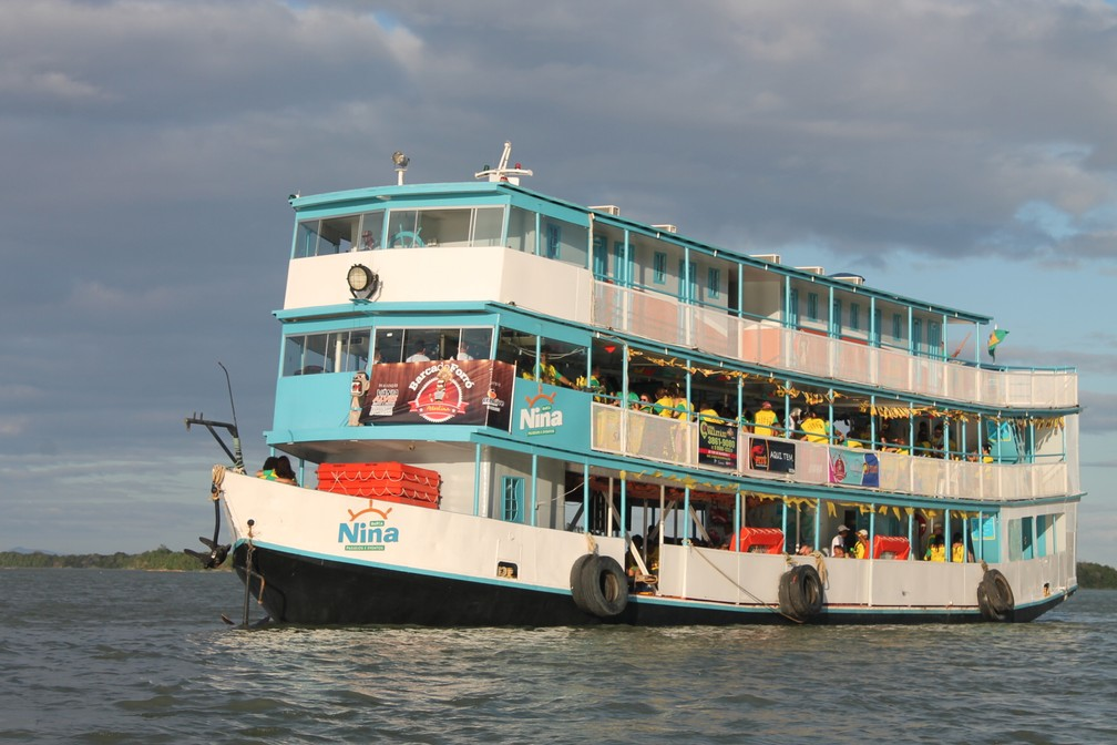 A Barca do Forró recebeu os torcedores em Petrolina (Foto: Emerson Rocha)