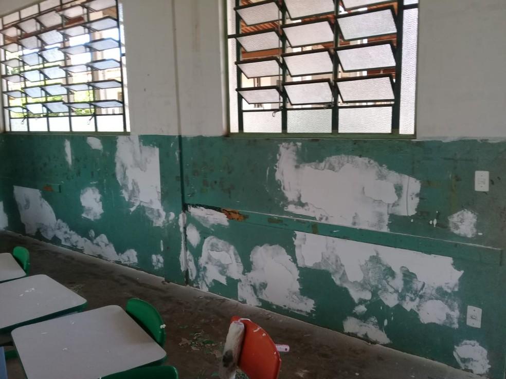 Paredes foram pintadas — Foto: Mário Benevides/ Arquivo pessoal