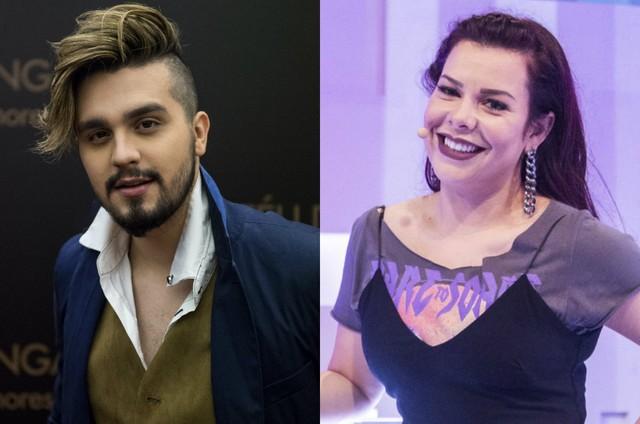 Luan Santana e Fernanda Souza (Foto: TV Globo)