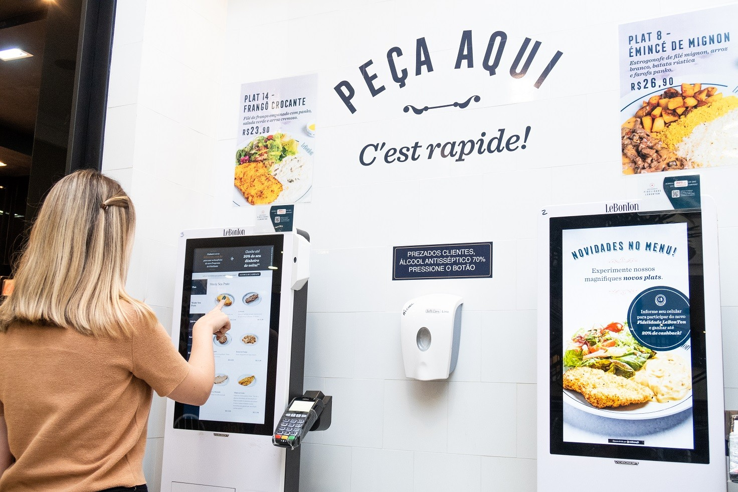 Autoatendimento aumenta ticket médio de franquia de restaurantes