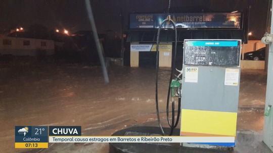 Temporal provoca estragos e alagamentos na região de Ribeirão Preto no domingo (4)