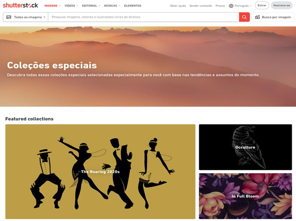 O site Shutterstock afirma que a empresa já pagou mais de 500 milhões de dólares aos colaboradores — Foto: Repodução / Shutterstock