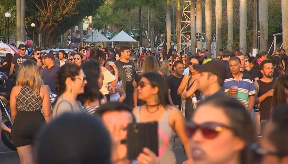 Evento atrai grande público em Barra Bonita (Foto: Reprodução / TV TEM )