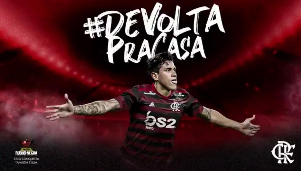 Flamengo anunciou oficialmente a contratação de Pedro — Foto: Reprodução