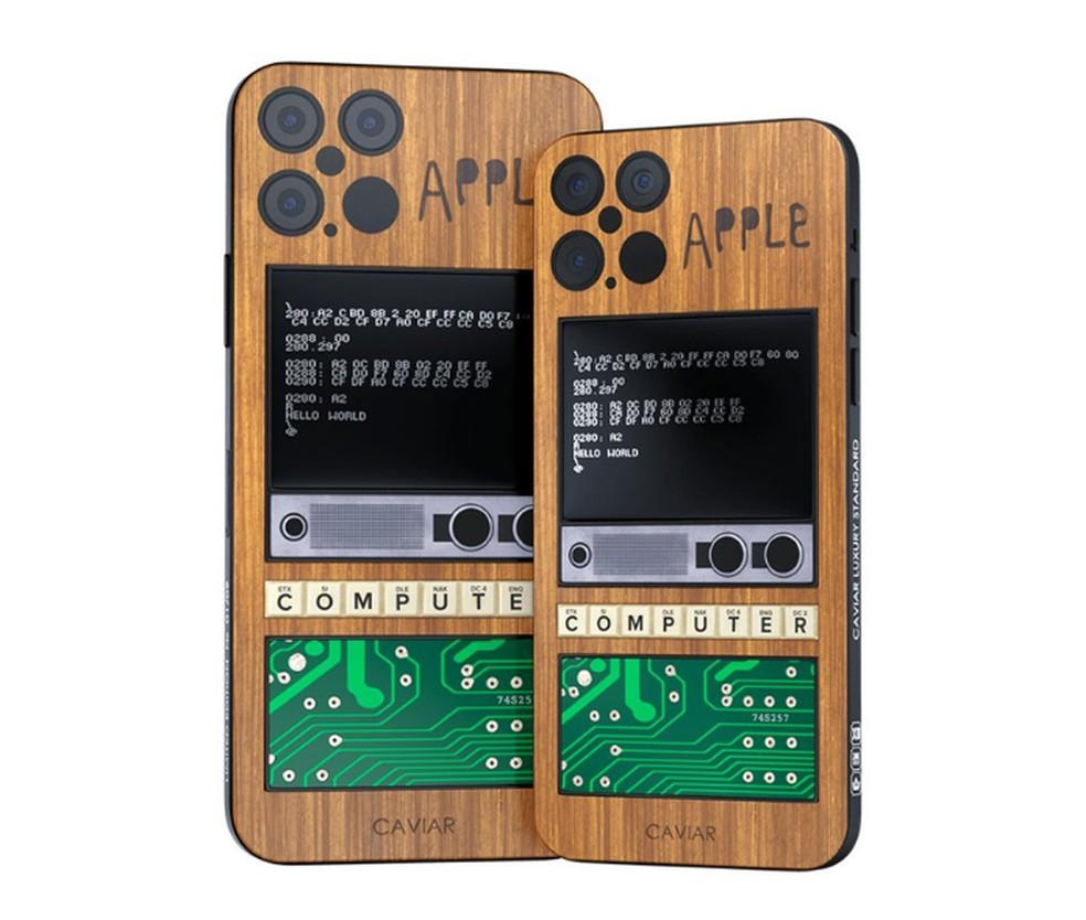 Edição de luxo do iPhone 12 traz pedaço da placa-mãe do Apple 1 — Foto: Reprodução/GSM Arena