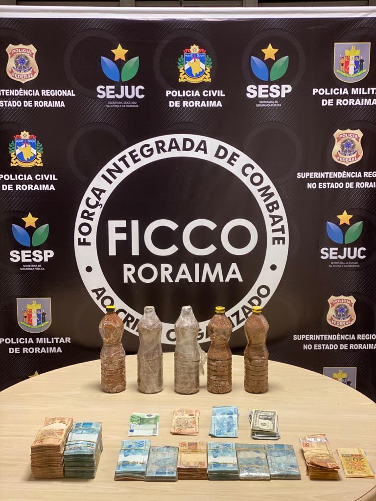 Sete suspeitos de tráfico são presos com R$ 170 mil e cocaína em Roraima